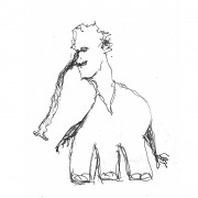 Dessin 11,5×16,5 Mellano Karl Elie von Elephantom