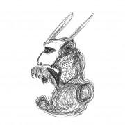 Dessins 14×21 Mellan black rabbit