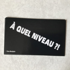 Stickers Boutique A quel niveau