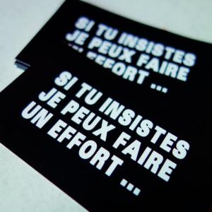 Stickers si tu insistes - Boutique
