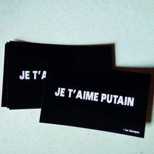 StickersJe t'aime putain - Boutique